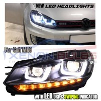 For VW Golf 6 MK6 LED DRL Headlights 2008-2013 RHD Headlight Assembly..